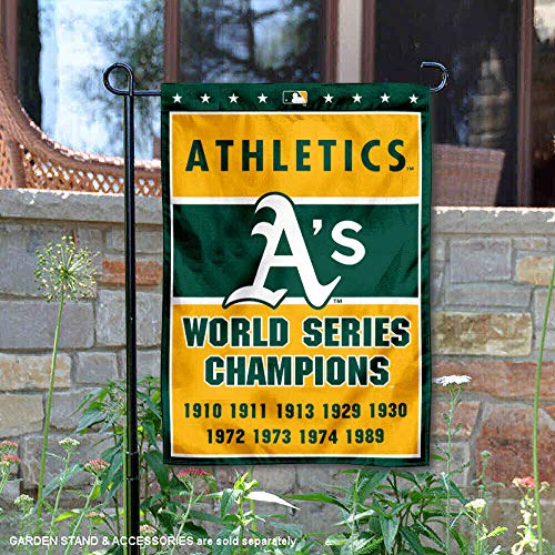 WinCraft Oakland Athletics 9-Time World Series Champions Double Sided Garden Flag