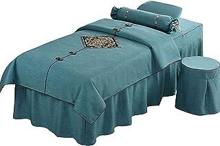 Chilechuan SPA Behandeling schoonheidssalon massagetafel bed rok, schoonheid sprei 4-delig katoen eenvoudig high-end schoo...