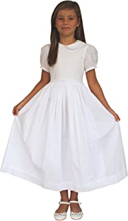 Strasburg Children Girls Mary First Communion Dress White Baptism Dress with Sleeves