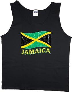 643f684da9726 Men s tank top Jamaica Jamaican flag decal sleeveless muscle tee shirt