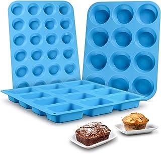 قالب های کلوچه پان سیلیکونی مافین پان - کیک کیک پان پخت سیلیکون قالب مواد غذایی درجه سیلیکون BPA تست رایگان Brioche Pan Pinch