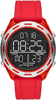 Diesel Crusher, Men's Digital Watch, DZ1900 - Red