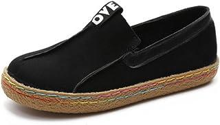 218d4ae0 CUSTOME Mujer ponerse Ante de cuero suave Holgazanes Zapatos de conducción