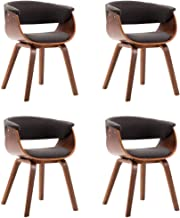 vidaXL 2x Solid Bent Wood Dining Chair Home Interior Dining Room Kitchen Furniture Dinner Seat Side Wooden Seating Armchai...