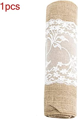 Amazon.com: boyspringg Burlap Table Runners with Lace ...