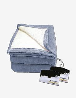 Biddeford 2061-9052140-500 MicroPlush Sherpa Electric Heated Blanket Full Denim