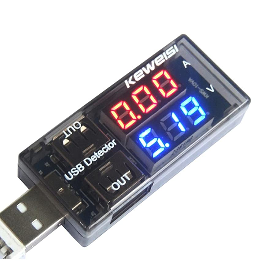 SUKEQ USB Charger Doctor Current Voltage Monitor Charging Detector Dual USB Multi Tester for Phone Charger, Power Bank
