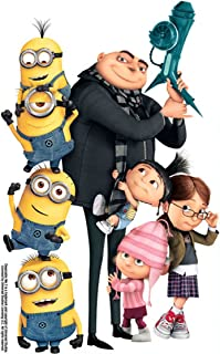 14 Inch Gru Edith Agnes Margo Minions Despicable Me Removable Wall Decal Sticker Art Home Decor Kids Room-9 Inch Wide By 14 1/4 Inch Tall