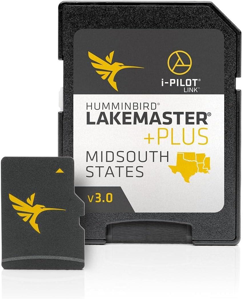 Humminbird 600009-8 LakeMaster Midsouth States Plus V3 Digital GPS Maps Micro Card , Black