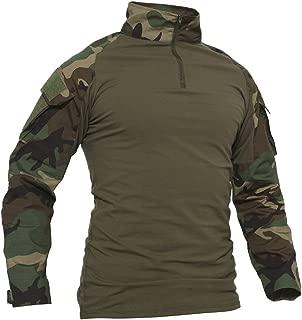 Men's Military Rapid Assault Slim Fit Pullover Long Sleeve 1/4 Zip T-Shirt