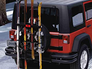 Jeep Ski and Snowboard Carrier-Spare Tire Mounted