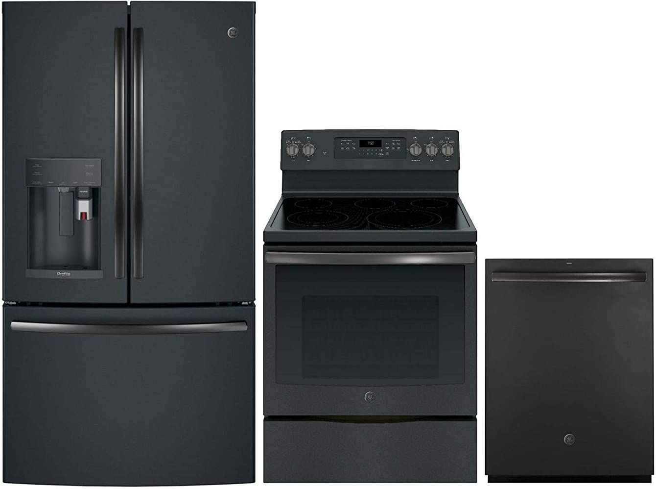 GE Profile 3 Piece Kitchen Appliance Package with PFE28PELDS 36