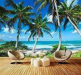 Fototapete Palmen an einem tropischen Strand Vliestapete Wandtapete - Tapete - Moderne Wanddeko - Wandbilder - Fotogeschenke - Wand Dekoration, wandmotiv24, Größe: M 250 x 175 cm - 5 Teile...