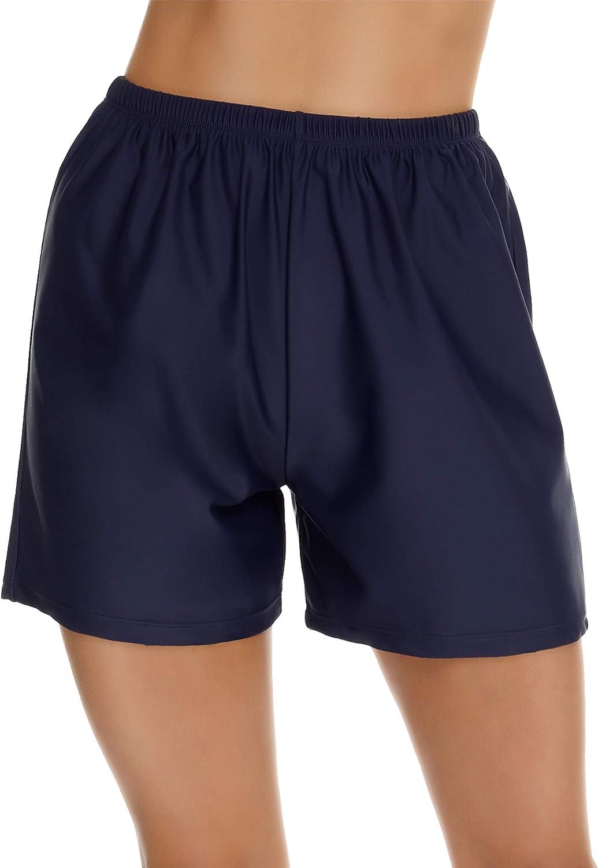 Lecieldusoir Women's Swim Shorts High Waist Swimsuit Bottom Bathing Suit Bottom Swimsuit Short Swimwear Boy Short