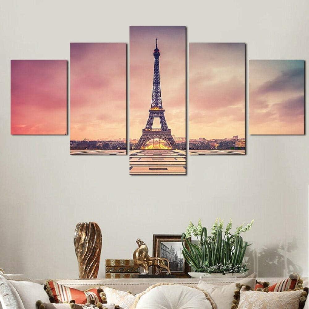 QAWSE Set of 5 Max OFFicial 48% OFF Pcs Split Artwork Panel Multi Canvas Contemporary