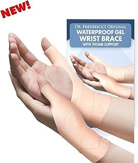 Dr. Frederick's Original Waterproof Wrist & Thumb Brace - 4 Pieces - Spica Splint for Thumb Arthritis - Skier's Thumb - De Quervain's - Medium
