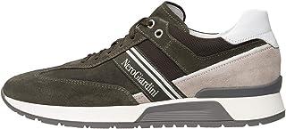 Nero Giardini E001484U Sneakers Homme en Cuir, Cuir Velours Et Toile