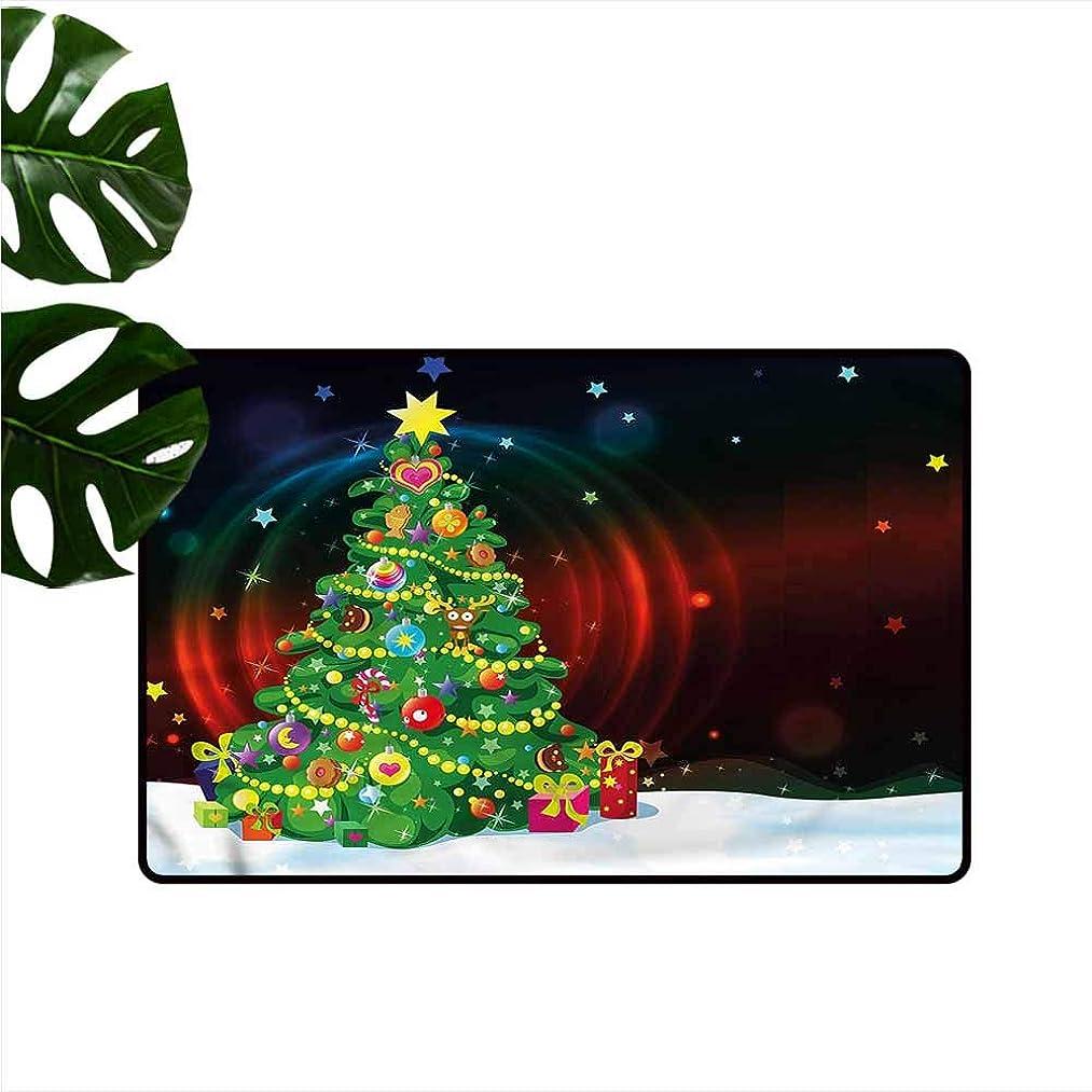 HOMEDD Modern Doormat,Christmas Xmas Tree Cartoon,Customize Door mats for Home Mat,35