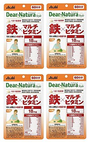 【まとめ買い】ディアナチュラスタイル 鉄×マルチビタミン60粒(60日)×4個