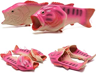 HEEMAA - 4 Colours Fish Slippers Beach Shoes Non-Slip Sandals Creative Fish Slippers Men and Women Casual Shoe Animal Fish Slippers