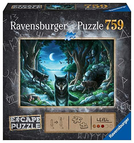 Ravensburger Puzzle, 759 Piezas, Escape the Puzzle - La Manada de Lobos, para adultos, Rompecabezas de calidad