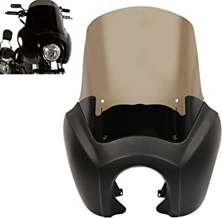 XFMT TSport Front Fairing Outer Club Warrior Quarter Fairing Windshield Kit Headlight Fairing Cover Compatible with Harley Dyna Fat Bob FXDF T-Sport