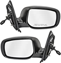 Driver and Passenger Manual Remote Side View Mirrors Replacement for Toyota Yaris Sedan 87940-52780 87910-52800