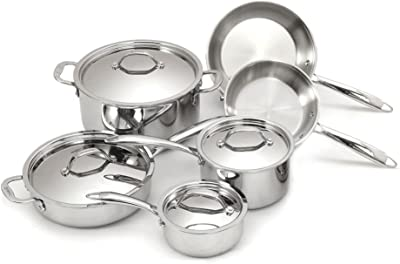 Cuisinox Stainless Steel Super Elite 10 Piece Set Tri-Ply Bonded, 10Piece