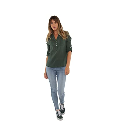Carve Designs Dylan Gauze Shirt (Hunter) Women