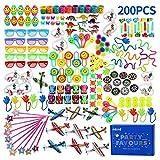 nicknack Bulk Party Tasche Füllstoff Spielzeug für Kinder, 200pcs Geburtstag Beutetasche Füllstoffe, Party Game Preise, Schule Belohnungen Geschenke
