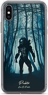 iPhone 7 Plus/8 Plus Case Anti-Scratch Motion Picture Transparent Cases Cover Predator Alien Vs Predator Action Movies Video Film Crystal Clear