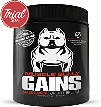 Muscle Bully Gains - Mass Weight Gainer, Whey Protein for Dogs (Bull Breeds, Pit Bulls, Bullies) Increase Healthy Natural Weight, Made in The USA (45 Servings (Trial Size))