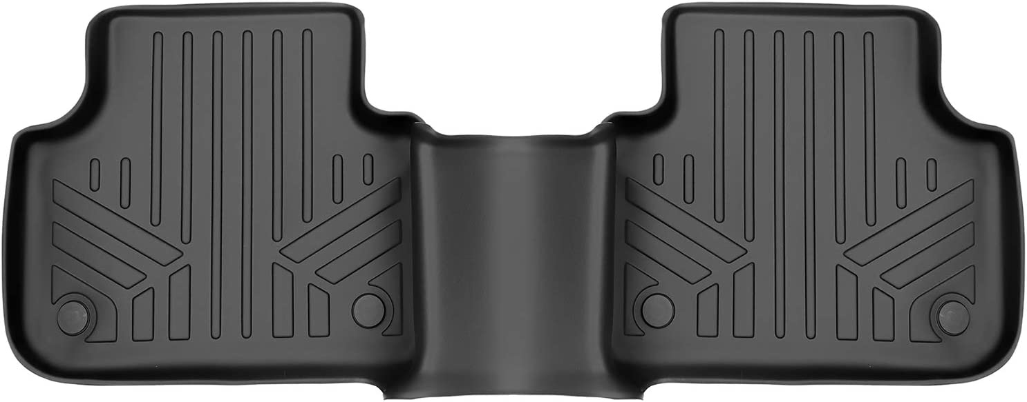MAXLINER Floor Mats Outlet SALE 2nd Row Liner Audi Free Shipping Cheap Bargain Gift 2017-2021 for Black - Q7