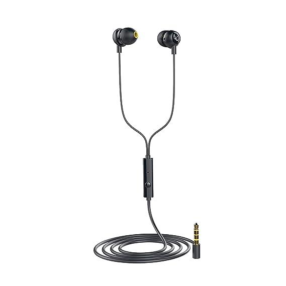 (Renewed) Infinity (JBL) Zip 20 in-Ear Deep Bass Headphones with Mic (Charcoal Black)