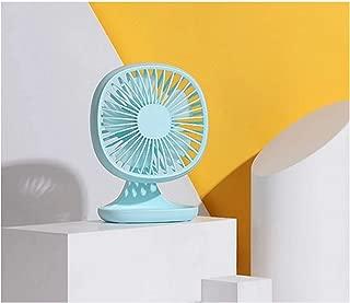 SHANGRUIYUAN-Mini Fan Portable Multifunction USB Fan 3 Speed Mini Fan Office Desktop Electric Small Fan Summer (Color : Blue)
