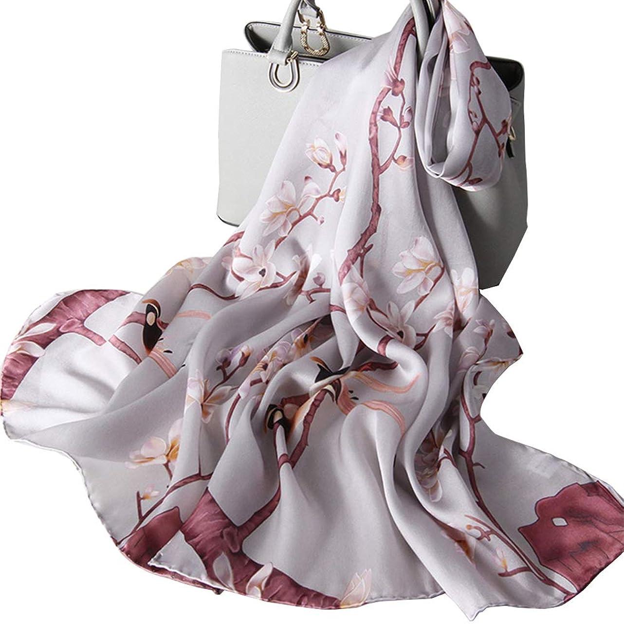 DANA XU Women's Silk Scarf Fashion Sunscreen Shawls Wraps for Headscarf Neck yzv766541842414