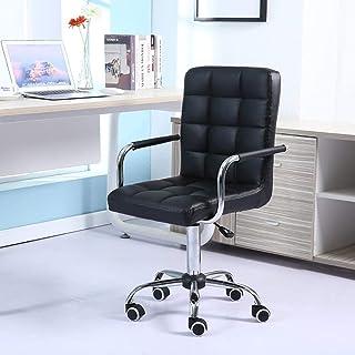 zZZ Negro Moderno Centro de la Espalda de Oficina Silla de la computadora sillas de Escritorio con apoyabrazos