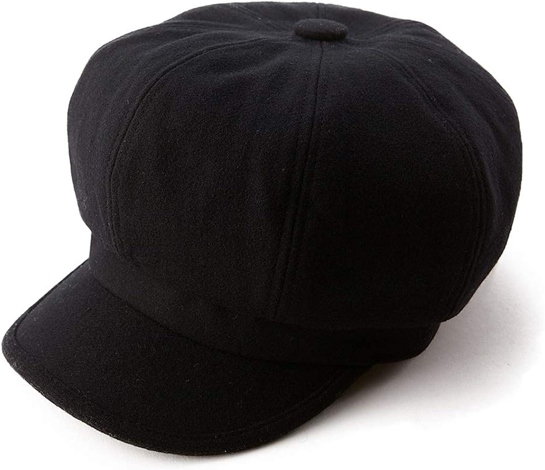 Fancet Womens Wool Blend Visor Beret Newsboy Cap Winter Hat 5658cm