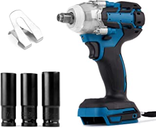 Ecarke Cordless Impact Wrench, Impact Driver 18v Impact Wrench 1/2 inch Cordless Impact Driver Impact Wrenches Compatible ...