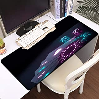 Luoquan Alfombrilla Raton Grande Gaming Mouse Pad,Cuatro Aces Casino Chips Dados Dados futuristas Brillantes Luces de neón...