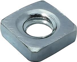 AERZETIX: 100x vierkante moer M3 5.5mm H1.8mm DIN562 verzinkt staal - C19176