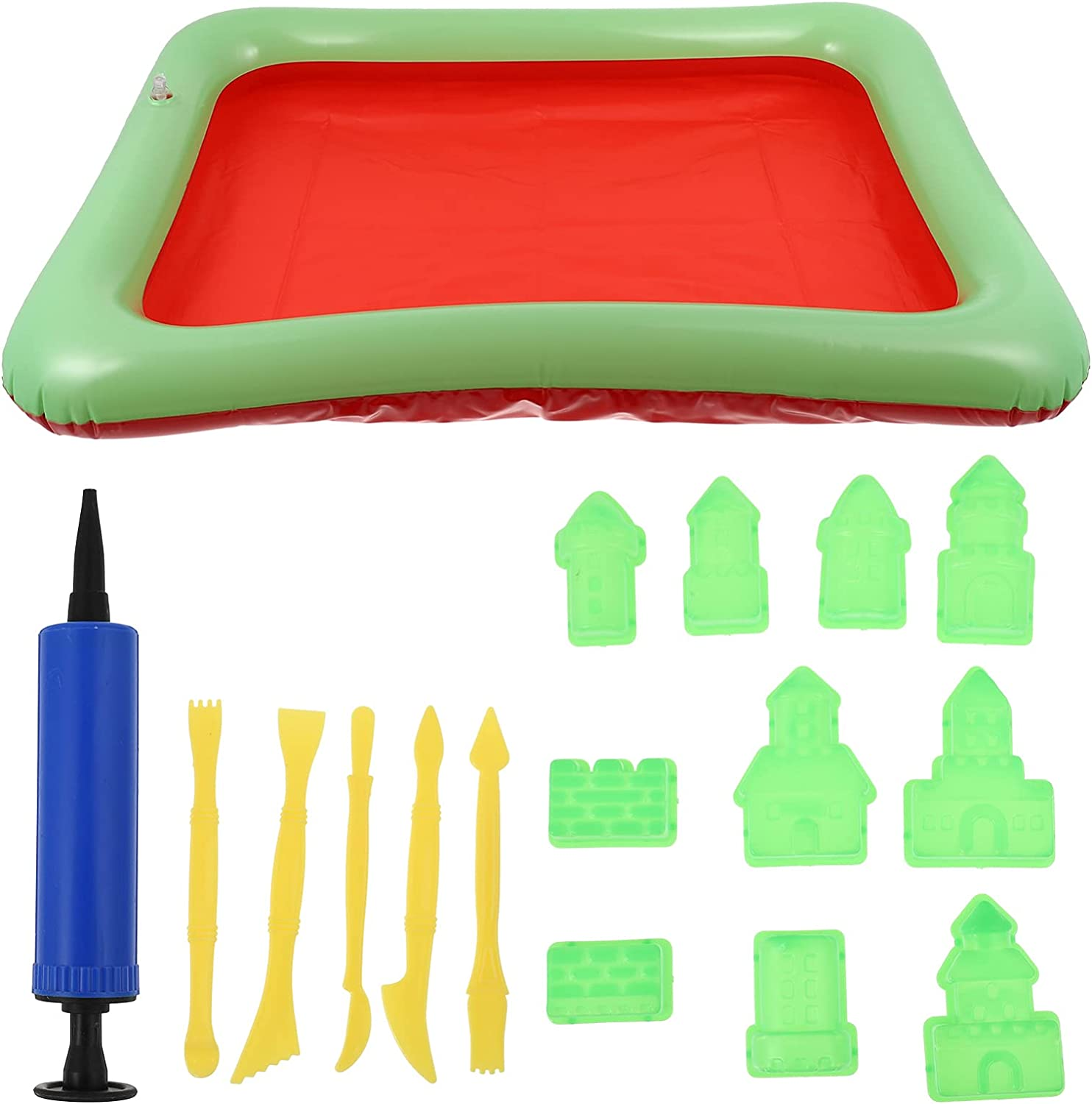 TOYANDONA 17pcs Kids Beach Fort Worth Mall Sand Soldering Toys Castl Inflatable Table