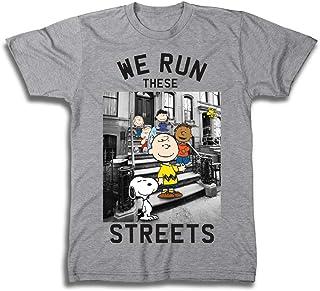 Snoopy Mens Peanuts Group Shirt, Linus, Charlie Brown - Throwback Classic T-Shirt