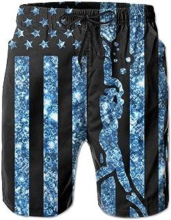 アメリカの国旗スキューバダイビングメンズ夏クイックドライスイミングショーツビーチボード水泳パンツ