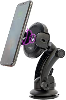 Hudly Fast 10W Wireless Charger Car Mount with Robotic Arms. Compatible with All Qi Enabled Smartphones: iPhone, Samsung Galaxy, etc. Mounts on Vent, Dashboard, or Windshield. (10W)