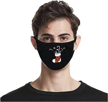 XINIU Adult Fashion Christmas Printed Casual Outdoor Washable Mask