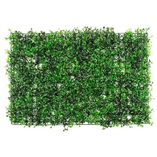 Yuema künstliche Efeu Blatt Hecke Faux grün Privatsphäre Zaun Bildschirm gefälschte Grün Platten Kulissen Wand Dekor Kunststoff Landschaftsbau Garten Zaun Gitter, Sichtschutz Windschutz Verkleidung