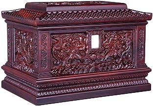 JCCOZ-URG Big Leaf Rosewood Phoenix Dance Nine-Day Pattern, Ashes Altar Moisture-Proof Box Keepsake Funeral, Urns for Adul...