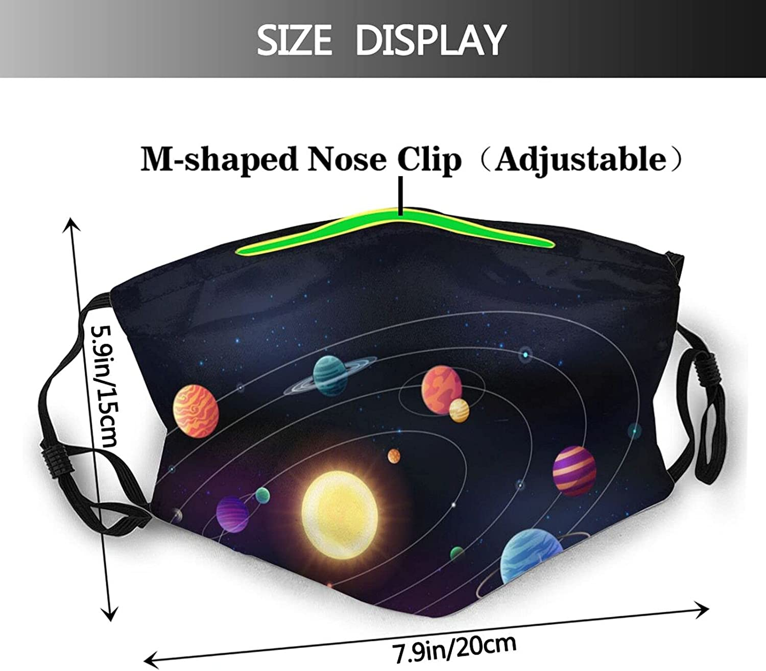 Spiral Galaxy Face Mask with Filter Washable Reusable Dust-Proof Face Bandanas Balaclava for Men Women