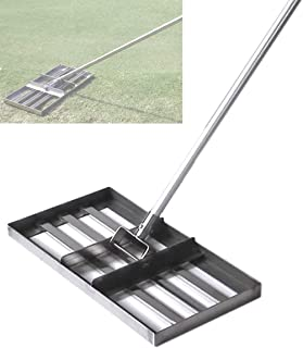 Lawn Leveling Rake, Golf Garden Grass Levelawn with 43-inch Handle, Level Soil or Dirt Ground Surfaces Easily, Heavy-duty ...